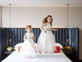 Flowergirls - Wedding at the Red Cow Moran Hotel