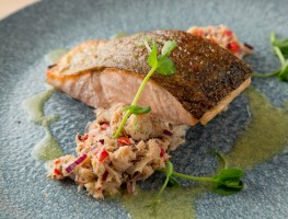 Toms-Table_Clare-Island-Organic-Salmon-on-a-bed-of-Fastnet-Rock-crab-salsa