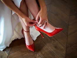 Red Shoes - Wedding at the Red Cow Moran Hotel