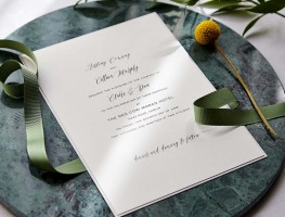 Wedding Invitation at the Red Cow Moran Hotel