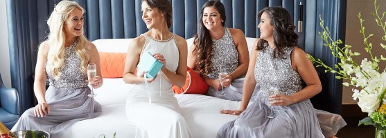 Bride & bridesmaids - - Wedding at the Red Cow Moran Hotel