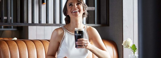Guinness in the Link Lounge - Wedding at the Red Cow Moran Hotel